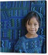 A Portrait Of A Guatemalan Girl Canvas Print by Raul Touzon