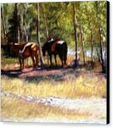 A Rest By The River Canvas Print