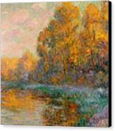 A River In Autumn Canvas Print