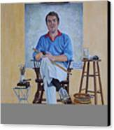 A Rockwell Tribute Canvas Print by Michael Lewis