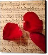 A Romantic Note Canvas Print