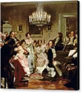 A Schubert Evening In A Vienna Salon Canvas Print