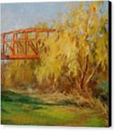 A Secret Little Red Bridge Canvas Print