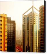 A Shanghai Sunset Canvas Print