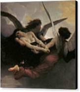 A Soul Brought To Heaven Canvas Print by Adolphe William Bouguereau