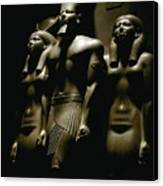 A Statue Of Pharoh Menkaura Canvas Print by Kenneth Garrett