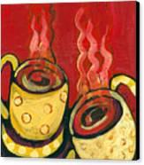 A Steaming Romance Canvas Print