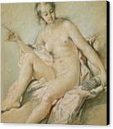 A Study Of Venus Canvas Print by Francois Boucher