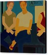 A Train Canvas Print by Renee Kahn