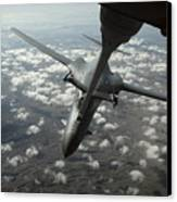A U.s. Air Force Kc-10 Refuels A B-1b Canvas Print by Stocktrek Images