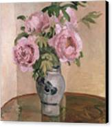 A Vase Of Peonies Canvas Print