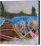 A Very Beary Fun Lake Day Canvas Print