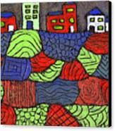 A Very Colorful Neighborhood Canvas Print