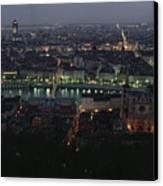 A View Of Lyon Between The Pont De La Canvas Print by James L. Stanfield