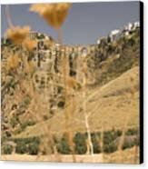 A View Of The Tajo De Ronda And Puente Nuevo Bridge Serrania De Ronda Andalucia Spain Canvas Print