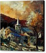 A Village In Autumn Canvas Print