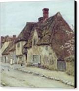 A Village Street Kent Canvas Print by Helen Allingham