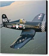 A Vought F4u-5 Corsair In Flight Canvas Print by Scott Germain