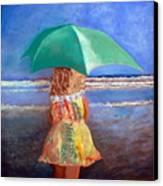 A Walk By The Sea Canvas Print