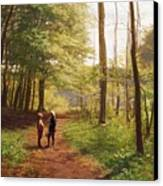 A Walk In The Forest Canvas Print by Niels Christian Hansen