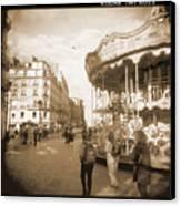 A Walk Through Paris 4 Canvas Print