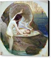 A Water Baby Canvas Print by Herbert James Draper