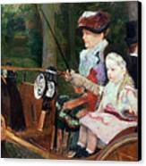A Woman And Child In The Driving Seat Canvas Print by Mary Stevenson Cassatt
