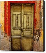 Abandoned Green Door 1 Canvas Print by Mexicolors Art Photography
