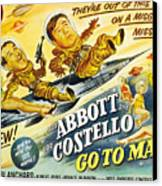 Abbott And Costello Go To Mars, Bud Canvas Print by Everett