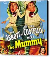 Abbott And Costello Meet The Mummy Aka Canvas Print by Everett