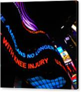 Abc News Scrolling Marquee In Times Square New York City Canvas Print