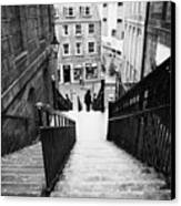 Aberdeen Union Street Back Wynd Stairs Scotland Uk Canvas Print