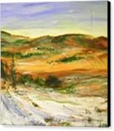 Aberdeen Winter Landscape Canvas Print