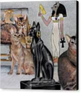 Abey-bastet Canvas Print