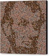 Abraham Lincoln Penny Mosaic Canvas Print by Paul Van Scott