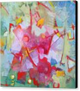 Abstract 2 With Inscribed Red Canvas Print