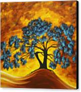 Abstract Art Original Landscape Painting Dreaming In Color By Madartmadart Canvas Print by Megan Duncanson