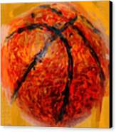 Abstract Basketball Canvas Print by David G Paul