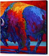 Abstract Bison Canvas Print by Marion Rose