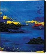 Abstract Blue Sea Canvas Print