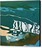 Abstract Boat Reflection Canvas Print by Dave Gordon