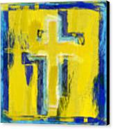Abstract Crosses Canvas Print