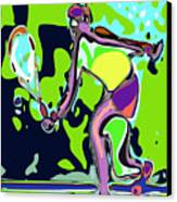 Abstract Female Tennis Player 2 Canvas Print by Chris Butler