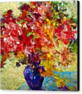 Abstract Floral 1 Canvas Print by Marion Rose