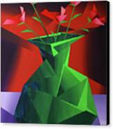 Abstract Flower Vase Prism Acrylic Painting Canvas Print by Mark Webster