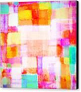 Abstract Geometric Colorful Pattern Canvas Print by Setsiri Silapasuwanchai