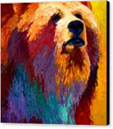 Abstract Grizz Canvas Print