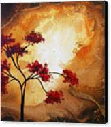 Abstract Landscape Painting Empty Nest 12 By Madart Canvas Print by Megan Duncanson