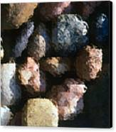 Abstract Of River Rocks 2 Canvas Print