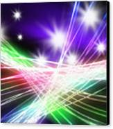 Abstract Of Stage Concert Lighting Canvas Print
